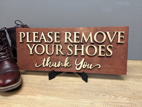 'Please Remove Your Shoes' Sign - Blue Lake Decor
