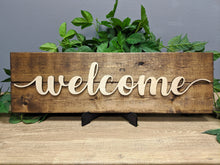 Load image into Gallery viewer, Rustic 'Welcome' Sign - Blue Lake Decor