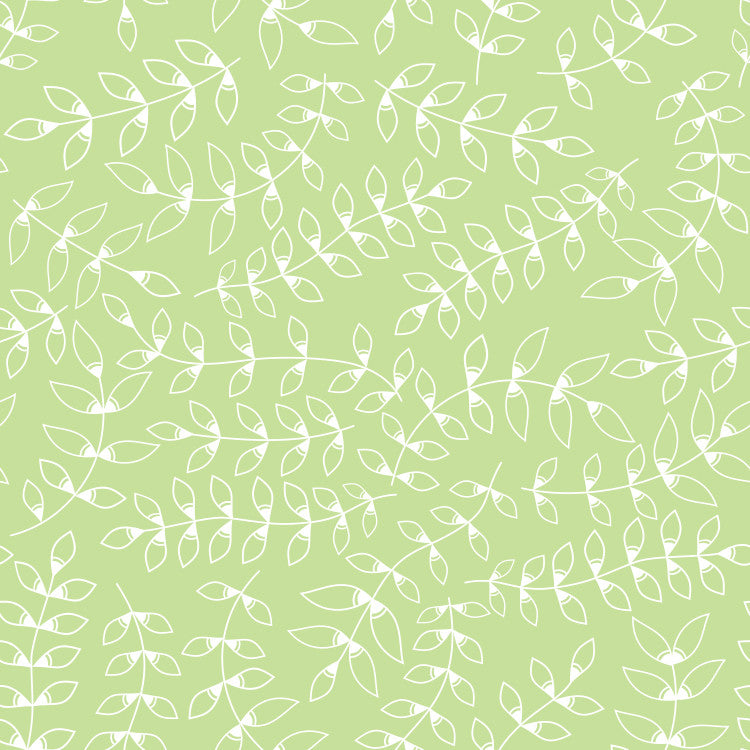 Pinnate Leaves Wallpaper - Blue Lake Decor