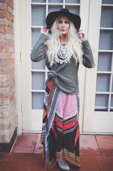 Yes, you can wear your boho clothes for Winter