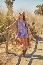Nathalie Printed Short Dress Purple