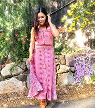Alisson Printed Maxi Skirt Pink