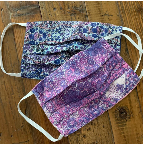 Printed Face mask Purple