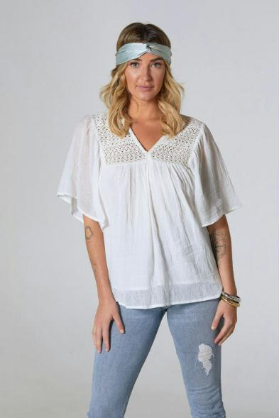 Celia top with Crochet