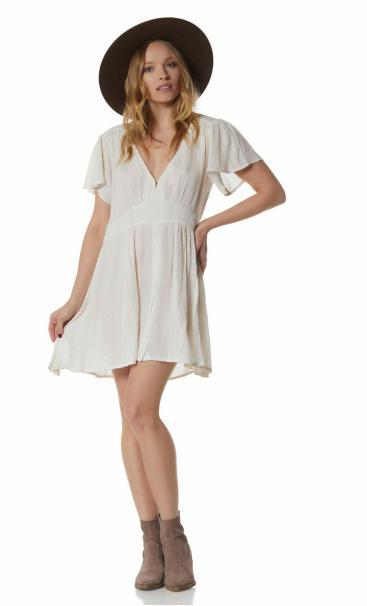 Lisa Short Dress Natural/Lurex