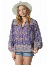 Pushkar Printed Blouse Purple