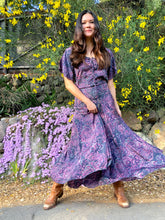 Bohemian purple maxi dress
