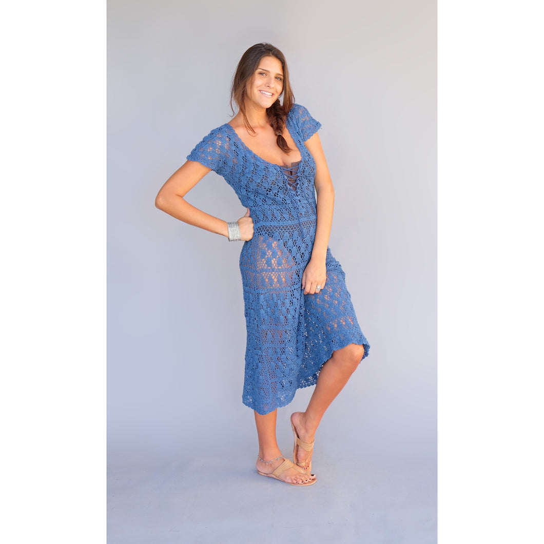 Laura Dress - Blue Boheme