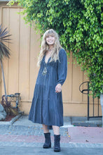 Tess Long Dress Grey/Lurex