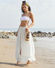 Tess Maxi Skirt Natural/Lurex
