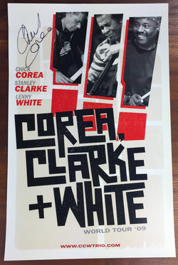 Corea, Clarke & White: World Tour '09 Poster