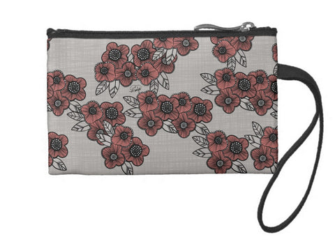 Poppies Galore Small Coin Wristlet