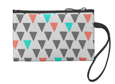Cute Big Triangles Small Coin Wristlet