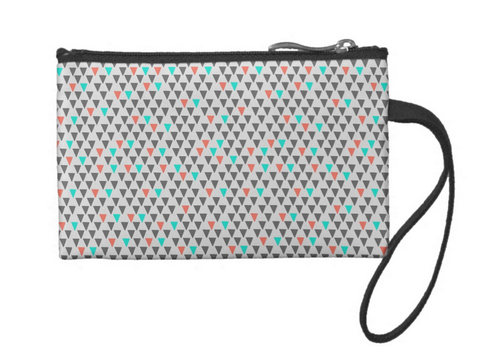 Cute Little Triangles Small Coin Wristlet