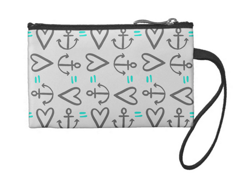 Anchor=Love Small Coin Wristlet