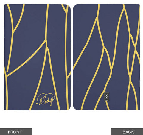 Yellow Vines & Abstract Flies Pocket Notebook