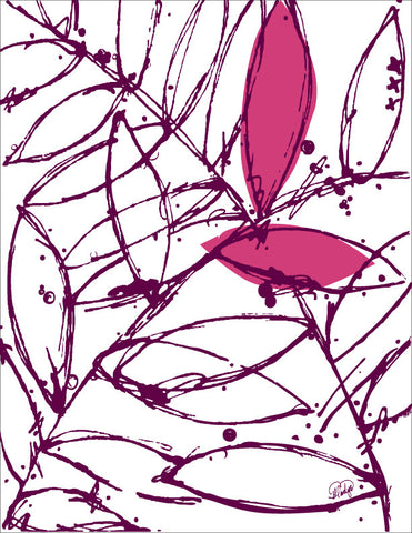 Abstract Plants in a Pink