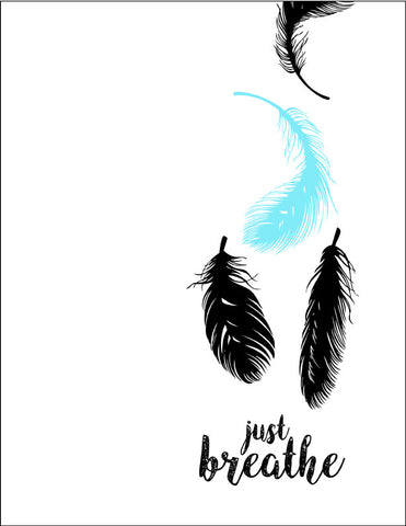 Just Breathe Feathers with a hint of Blue