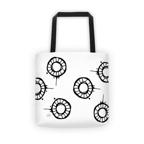 Abstract Circle Pattern on a Tote bag