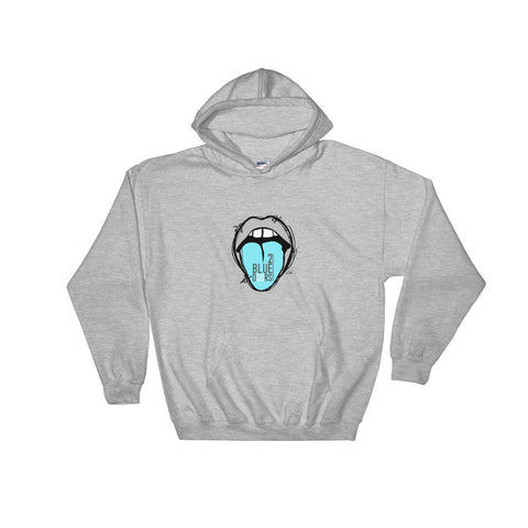 2 Blue Doors with Blue Tongue Hooded Sweatshirt