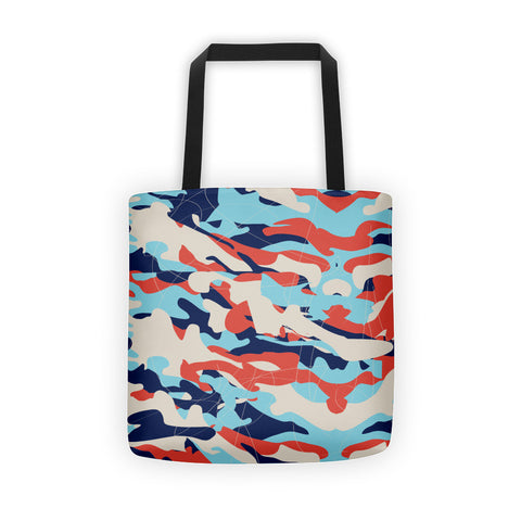 Colorful Chaos on a Tote Bag