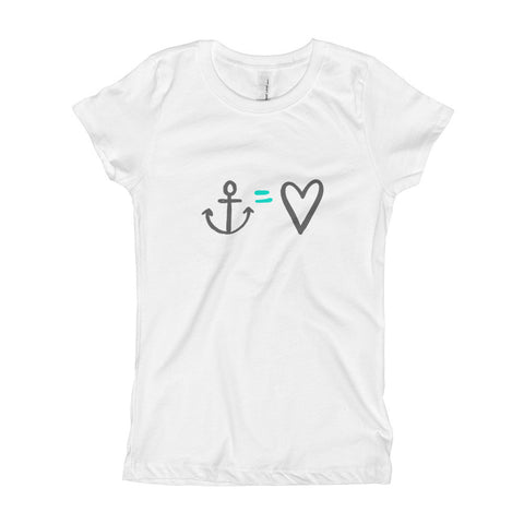 Anchor = Love Girl's T-Shirt