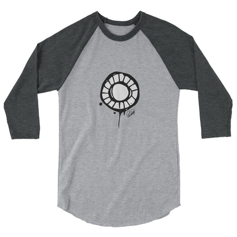 Abstract Circle  3/4 sleeve raglan shirt