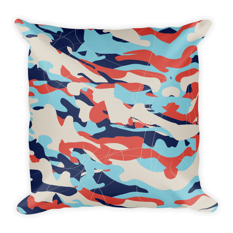 Colorful Chaos Square Pillow
