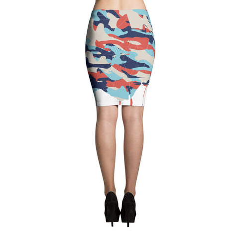 Colorful Chaos Sublimation Cut & Sew Pencil Skirts