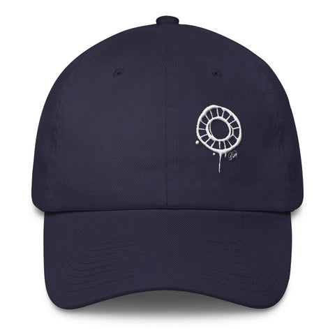 Abstract Circle (White) Cotton Cap
