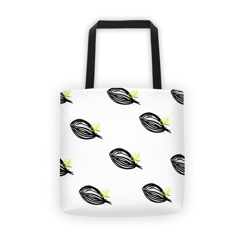 Abstract Leaf with a Hint of Color on a Tote bag