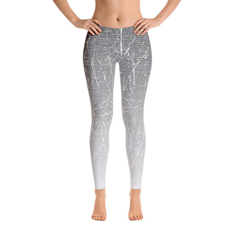 Music Collection Gray Gradient Specks Leggings