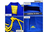 adidas IBJJF CONTEST BJJ Gi 450gr BLUE / YELLOW