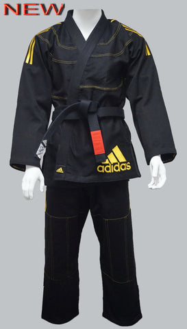 NEW Adidas IBJJF CONTEST 2.0 BJJ GI BLACK