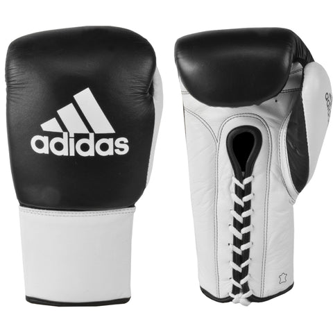 "adidas ""Glory"" Professional Boxing Gloves 100% Cowhide Leather With Lace Closing"