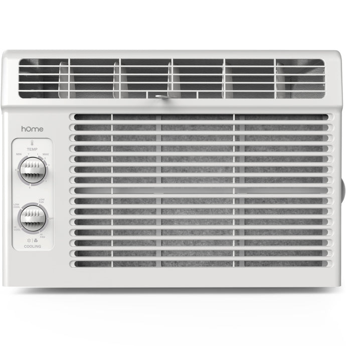 Front view of window air conditioner