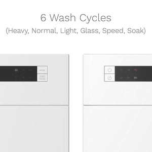 With 6 wash cycles