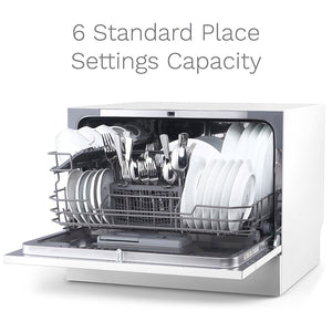 6 standard place setting capacity