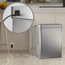 Load image into Gallery viewer, AC Power Adapter for Automatic Trash Can - Dedicated AC Adapter for 13 and 21 Gallon Stainless Steel Automatic Garbage Can