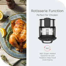 Load image into Gallery viewer, hOme air fryer oven features a rotisserie function