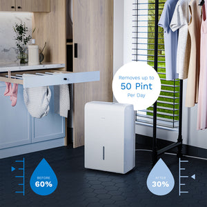 hOmeLabs 50 Pint Dehumidifier with Pump