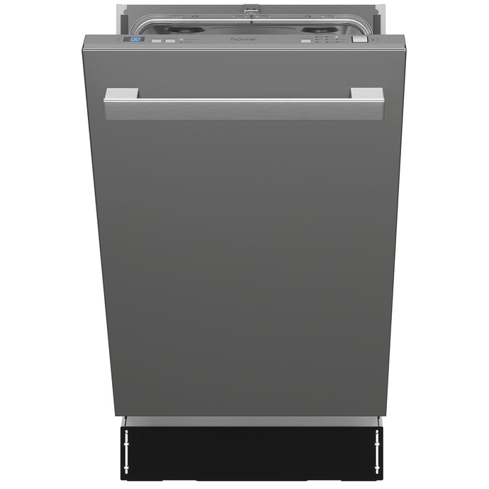 18 Inch Wide Built-In Dishwasher with Stainless Steel Front Door
