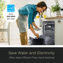 Load image into Gallery viewer, 18 Inch Wide Built-In Dishwasher with Stainless Steel Front Door save water and electricity