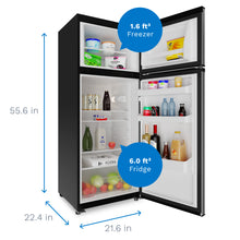 Load image into Gallery viewer, Two Door 7.6 cu. ft. Refrigerator with Freezer