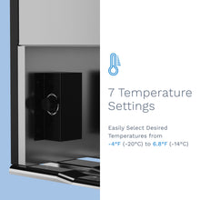 Load image into Gallery viewer, hOme cubic feet upright freezer has 7 temperature settings