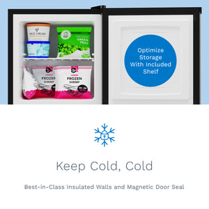 hOme cubic feet upright freezer features insulated walls and a magnetic door seal