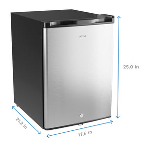 2.1 Cubic Feet Upright Freezer - Stainless Steel