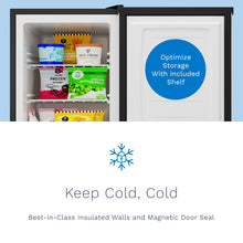 Load image into Gallery viewer, 2.1 Cubic Feet Upright Freezer - Stainless Steel