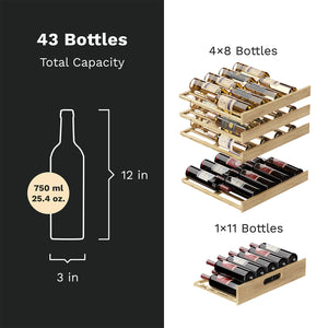 High-End Dual-Zone Wine Cooler - 43 Bottles Capacity