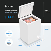 Load image into Gallery viewer, 3.5 Cubic Feet Chest Freezer